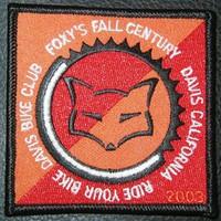 2003 Foxy's Fall Century patch