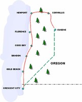 Oregon South Coast Tour Route