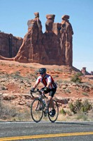 Skinny tires in Moab