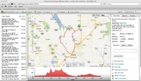 Maps, elevation profiles, and cue sheets available to print from RWGPS